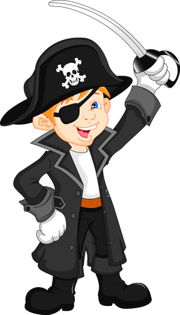 boy pirate cartoon Vector
