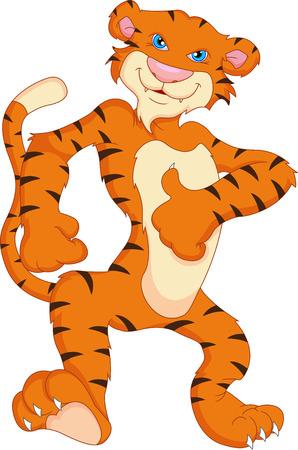 white tiger: cute tiger cartoon