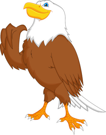 eagle thumbs up Vector