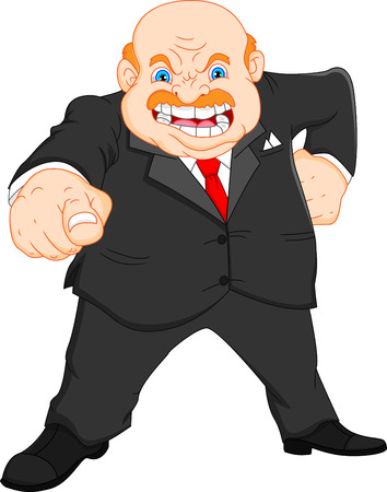 angry boss Stock Illustratie
