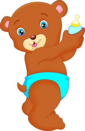 baby bear cartoon: cute baby bear cartoon Illustration