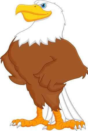 eagle cartoon Vector