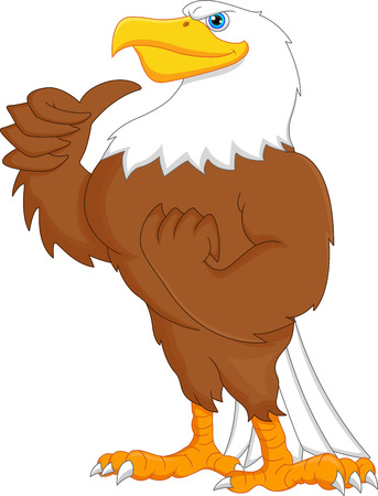 eagle cartoon thumbs up Vector