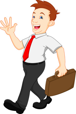 dress code: Young professional businessman waving