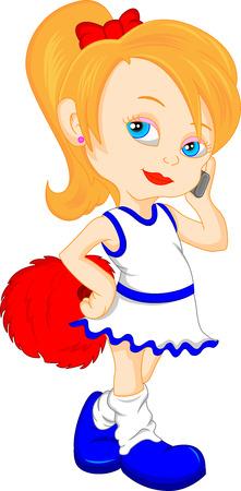 pom pom: pretty girl cheerleader