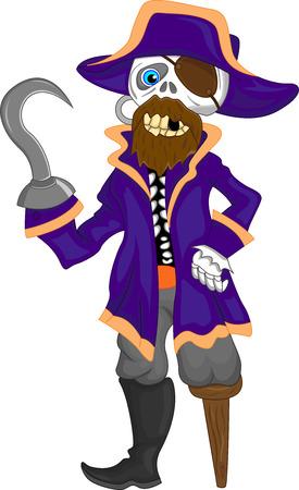 pirates captain cartoon Vector