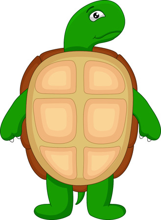 green turtle: simpatico cartone animato tartaruga verde