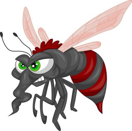 gnat: Angry mosquito cartoon