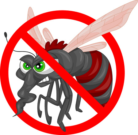 malaria: mosquito cartoon