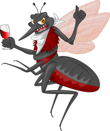 Mosquito cartoon Vector