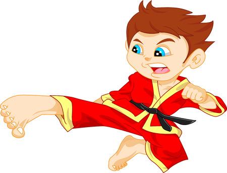 judo: karate niño Vectores