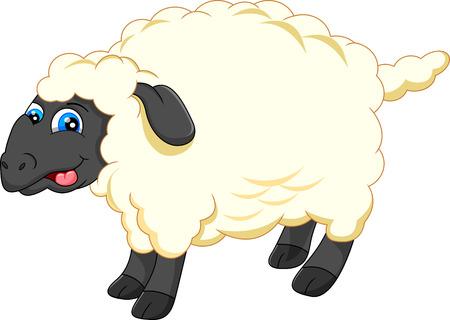 sheep love: cute sheep cartoon Illustration