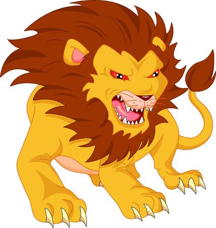angry lion: angry lion cartoon