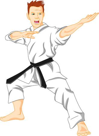 master of karate (martial art) Vector