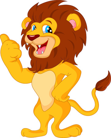 cute lion cartoon Ilustracja