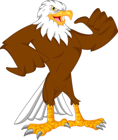 eagle cartoon thumbs up Vettoriali