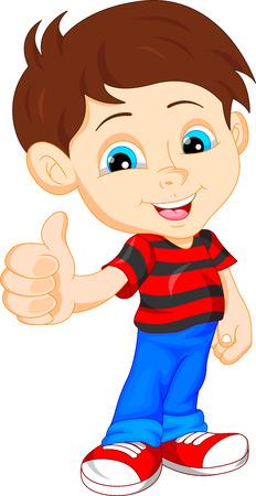 teen boy: cute boy giving thumb up