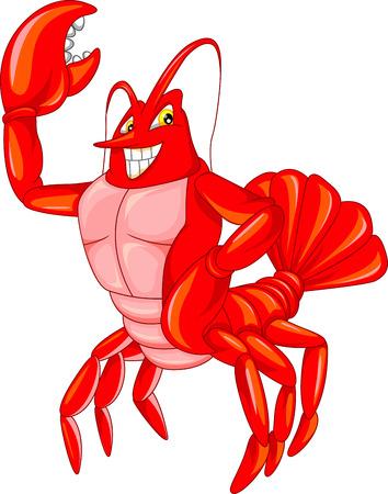 crayfish: cute crab cartoon