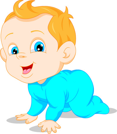 cute baby cartoon Vettoriali