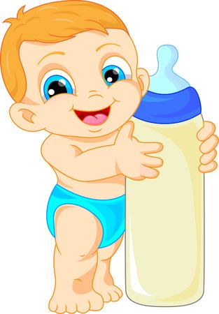 romper suit: cute baby cartoon Illustration