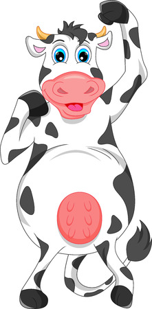 cute cow cartoon Stock Vector - 40931130