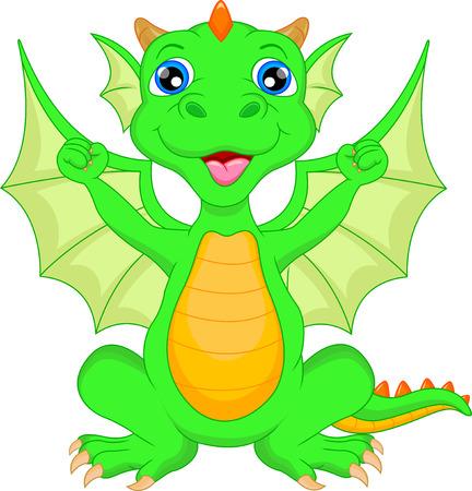 paleontological: Cute baby dinosaur cartoon Illustration