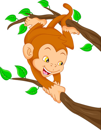 thumping: cute monkey cartoon