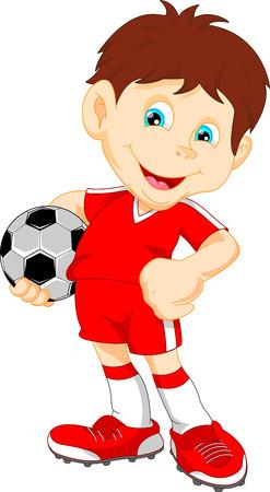 かわいい男の子のサッカー選手  イラスト・ベクター素材