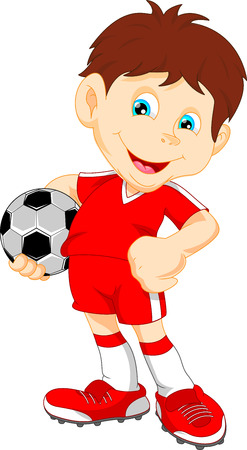 leuke jongen voetballer Stock Illustratie