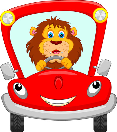 packet driver: lion in red car
