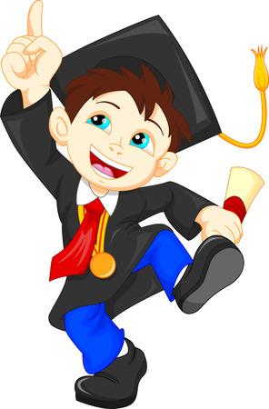 graduacion caricatura: Graduado feliz