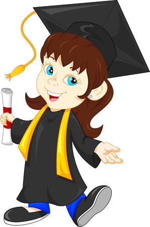 Gluckliche Absolventen Cartoon Lizenzfrei Nutzbare Vektorgrafiken