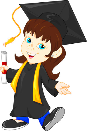 master degree: Happy graduate