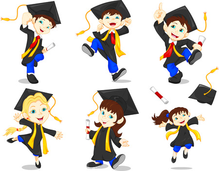 child education: Happy graduates