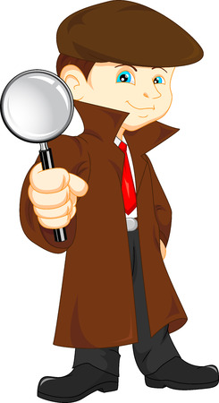 Cartoon Detective boy