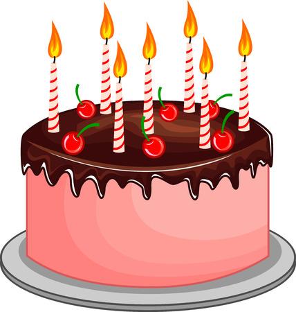 Gâteau d'anniversaire Vecteurs
