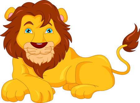cute lion cartoon  イラスト・ベクター素材