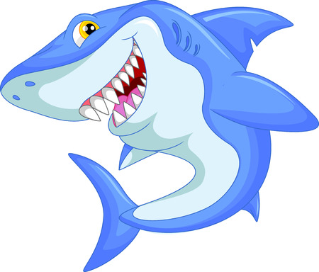 shark teeth: funny shark cartoon