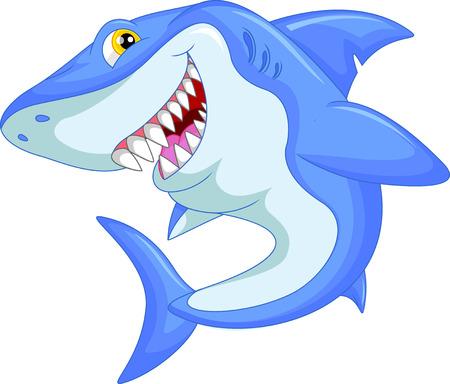 shark cartoon: historieta divertida del tiburón