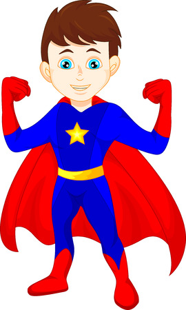 kids costume: Super hero boy posing