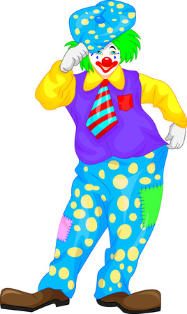buffoon: clown cartoon