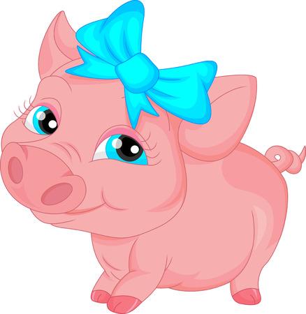 young pig: cute pig cartoon
