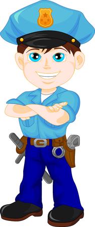enforcer: police boy posing
