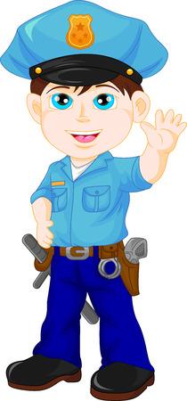 enforcer: police boy waving