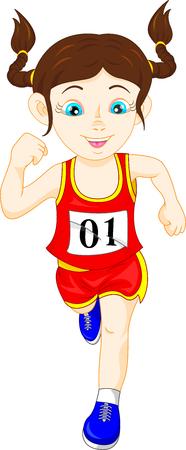 child running: running girl