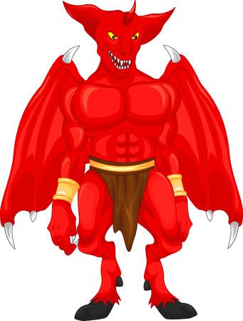 satan: ed diablo de dibujos animados Vectores