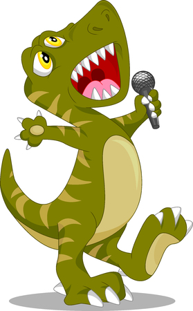 cute dinosaur: cute dinosaur singing cartoon