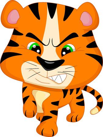 tigre bebe: lindo bebé de dibujos animados tigre