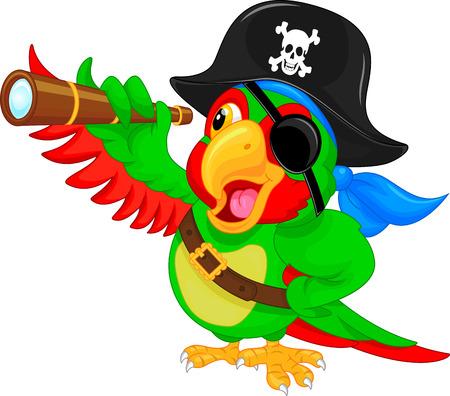 papuga pirata kreskówki