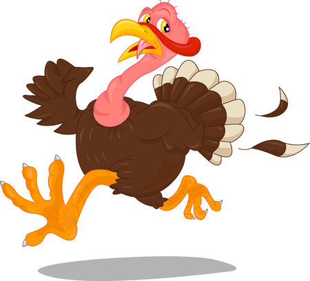 cute turkey cartoon Ilustrace